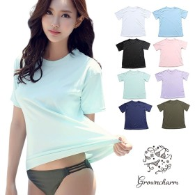 ラッシュガード レディース Tシャツ タイプ 速乾 フリーサイズ M 全8色 UVカット 半袖 体型カバー 水着 日焼け止め