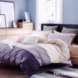 BEDDING-專櫃純棉5尺雙人薄式床包三件組-條紋世界-咖