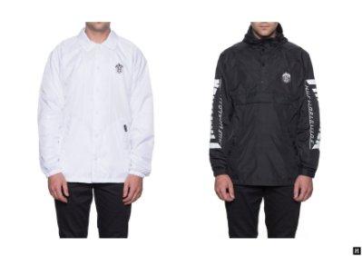 【HOMIEZ】 HUF THRASHER TDS COACH'S JACKET 夾克 外套 白 聯名限定款 L-XL
