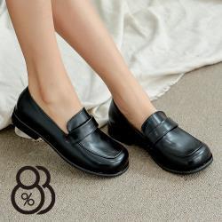 【88%】休閒鞋-MIT台灣製 皮革面包鞋 學生皮鞋 純色百搭休閒鞋