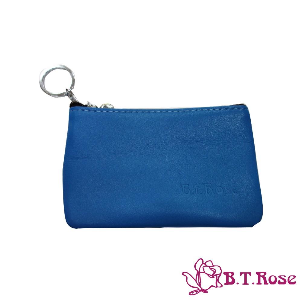 【B.T ROSE】實用零錢鎖包-寶藍(優質真皮系列)