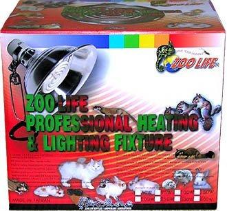 (1-08P)ZOO LIFE 可調溫式白金品質遠紅外線陶瓷加溫器120V150W保溫燈組(完全無光)