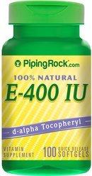 【 Piping Rock】現貨 100% 純天然維他命E vitamin E 400IU 100顆裝