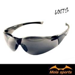 MOLA摩拉護目鏡運動安全太陽眼鏡防飛沫防風防塵深灰鏡片超輕量男女可戴 6017s