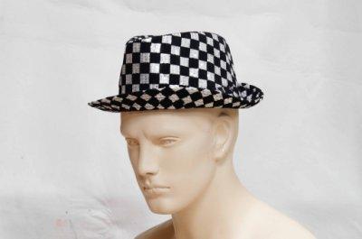現貨 新款 紳士帽 帽子 型男 變裝 萬聖節 聖誕節 雷鬼 街舞 嘻哈 HIPHOP 尾牙 表演 夜店 道具 變裝舞會