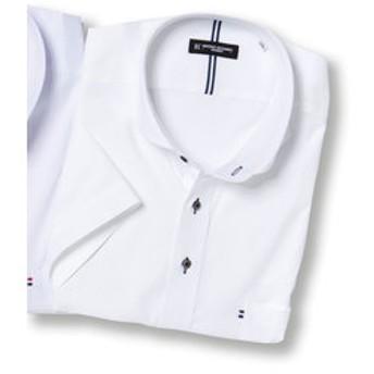 【GRAND-BACK:トップス】【大きいサイズ】HIROKO KOSHINO HOMME ハイブリットセンサーカッタウェイ半袖ビジネスドレスシャツ