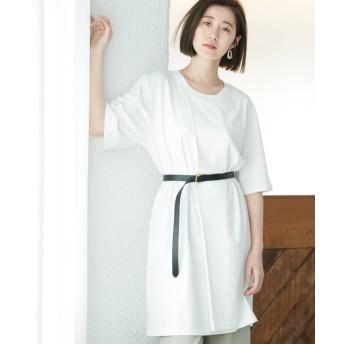 ロペピクニック/タックスリットBIG Tシャツ/ホワイト/38