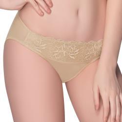 思薇爾 花薇系列M-XL蕾絲低腰三角內褲(淺棕膚)
