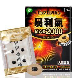【易利氣】MAX 2000磁力貼 12顆/盒 (大範圍型) x5入