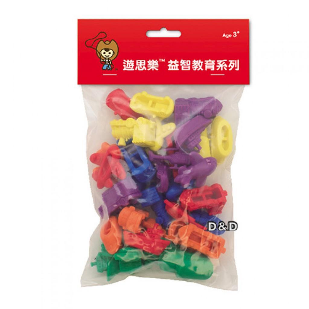 USL 遊思樂 幼教玩具 - 交通工具組 (6形6色,36pcs)