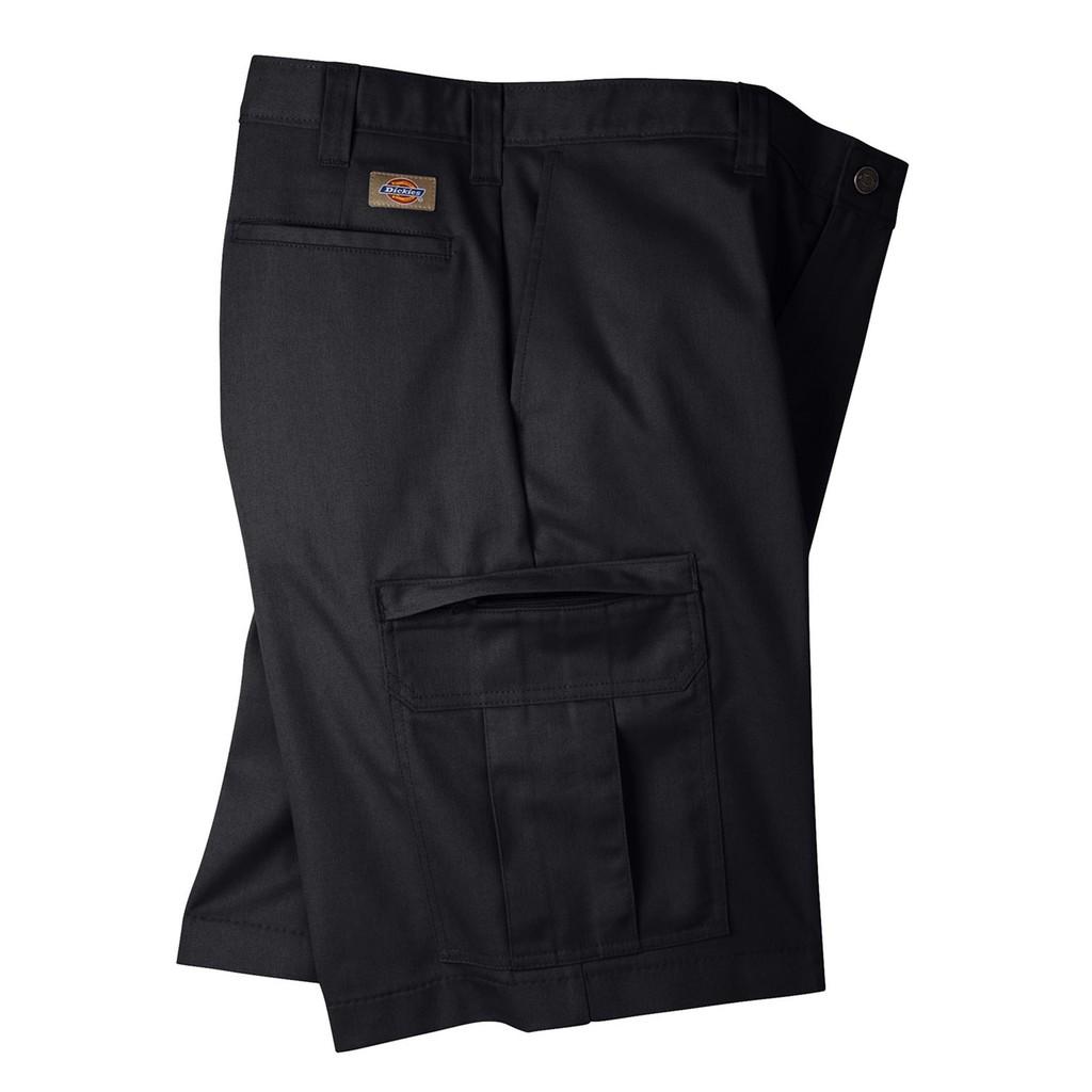 【DICKIES】LR542 11吋 Cargo Shorts 中低腰直筒六袋斜紋布 工作短褲 (BK 黑色)