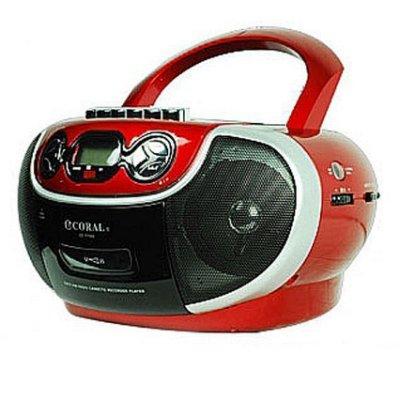 CORAL CD-7700 多功能手提音響 AM/FM收錄音機 卡帶 CD USB