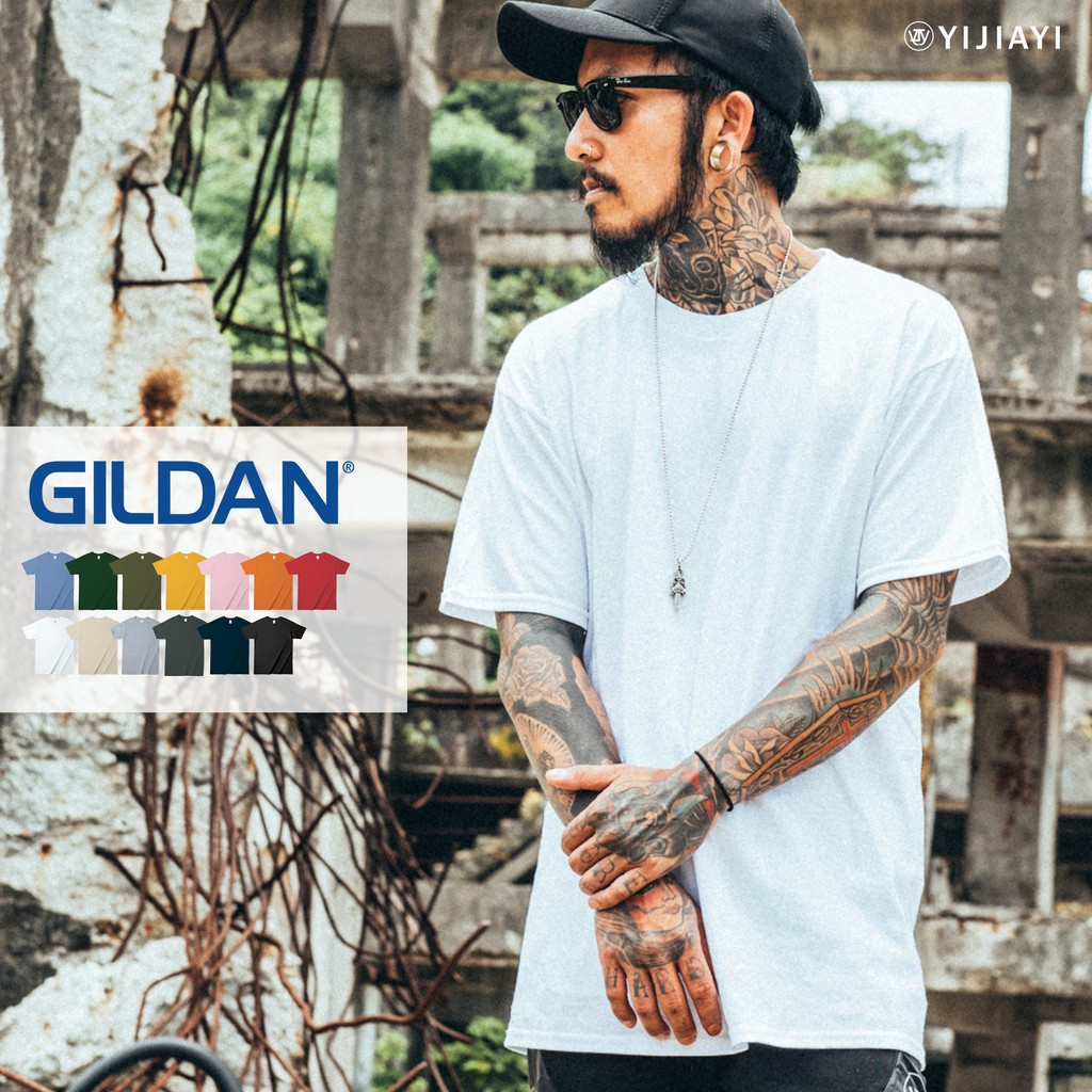 【Gildan 】台灣正版公司貨 經典 純棉 素面 短袖 T恤 短T【G廠】(76000)