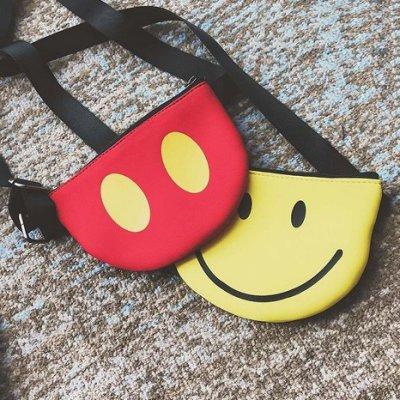 【東東雜貨】迷你可愛卡通笑臉微笑手機包手拿包斜背包側背包斜跨包肩背包兒童男童女童男寶寶女寶寶小包包兒童包小包單肩包小背包