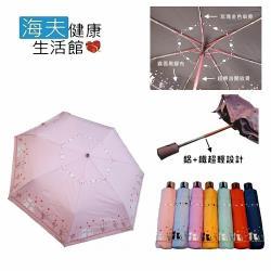 海夫健康生活館 心心相印 玫瑰金色傘骨雨傘
