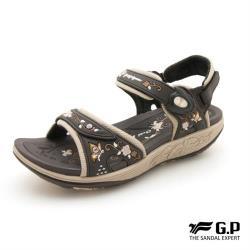 G.P 舒適中厚底磁扣兩用涼拖鞋G9284W-咖啡色(SIZE:36-39 共三色)