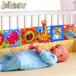 Jollybaby嬰兒床床圍雙面彩色動物世界布書