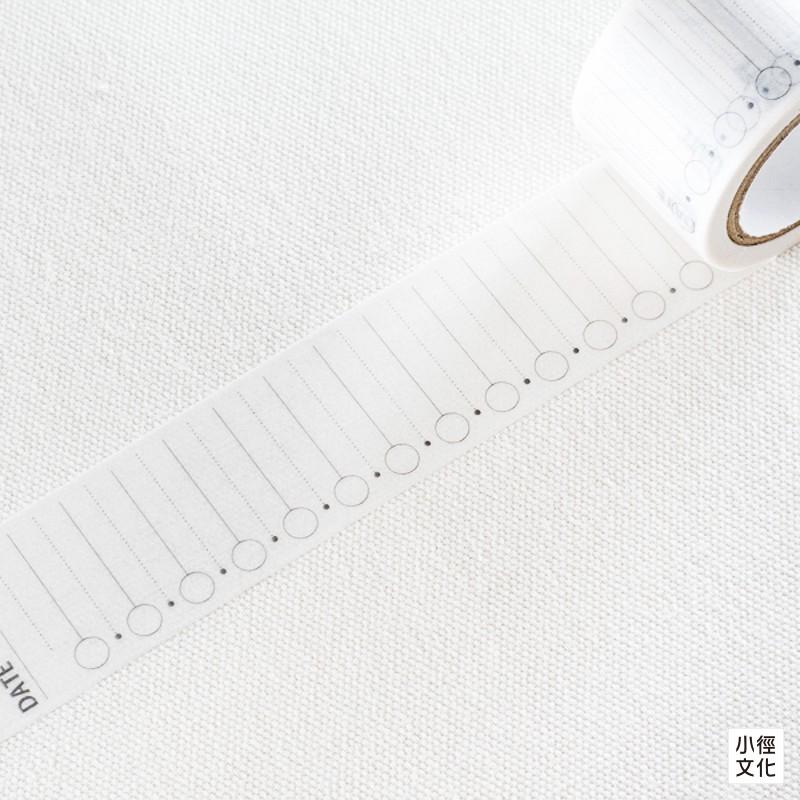 【World craft】日本進口 和紙膠帶 手帳系列 - 待辦_直向 ( W01-TM30-0002 )[小徑文化]