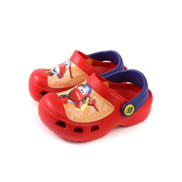 SUPER WINGS 布希鞋 涼鞋 防水 雨天 紅色 中童 童鞋 S93902-150 no015