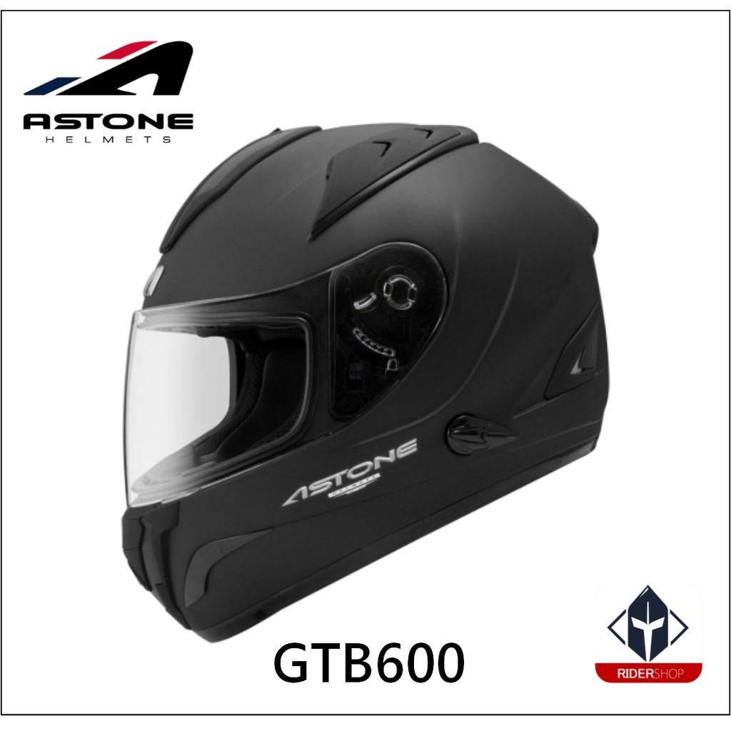 ASTONE GTB600 標準 平黑 內墨鏡片 通風系統 吸濕排汗 全可拆洗 雙D扣 全罩式 安全帽《比帽王》