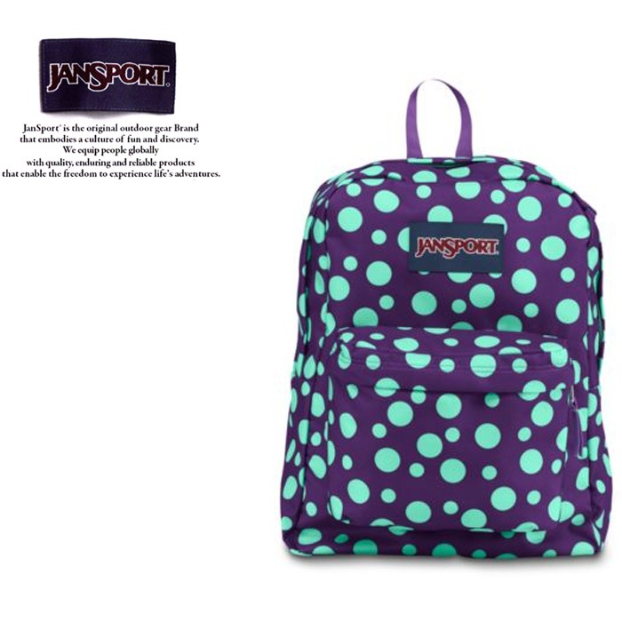 JANSPORT 後背包 SUPER BREAK JS-43501 紫夜點點