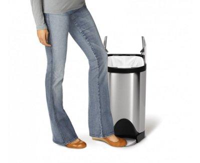 雷貝卡**美國   simplehuman 不銹鋼垃圾桶 30L 非  Brabantia 時尚垃圾桶