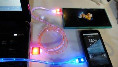 【大衛營】Micro USB 發光傳輸線 發光充電線 傳輸線 充電線 HTC Sony