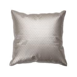 Hung design gift-半立體小三角金屬感皮革方形抱枕(非動物皮)