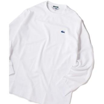 シップス 《made in Japan》LACOSTE×SHIPS JET BLUE: 別注 カノコ 袖リブ ロングスリーブ Tシャツ メンズ ホワイト 4 【SHIPS】