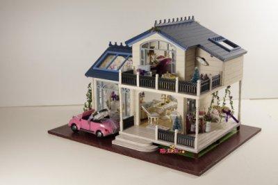 【酷正3C】浪漫薰衣草豪華DIY小屋 袖珍屋 娃娃屋 模型屋 材料包 玩具娃娃住屋 手做工藝 拼裝房子 A032普羅旺斯