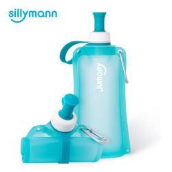 韓國sillymann 100%簡約便攜捲式鉑金矽膠水瓶-550ml (薄荷藍)