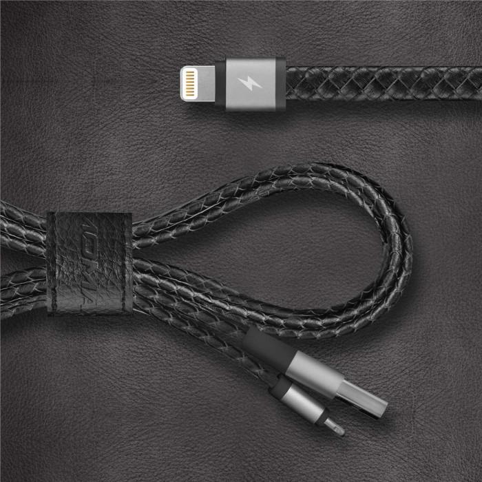 MOMAX Elite Link Pro真皮編織/蘋果認證連接線(11cm&1m組合包)(1M)(11CM)金白黑粉
