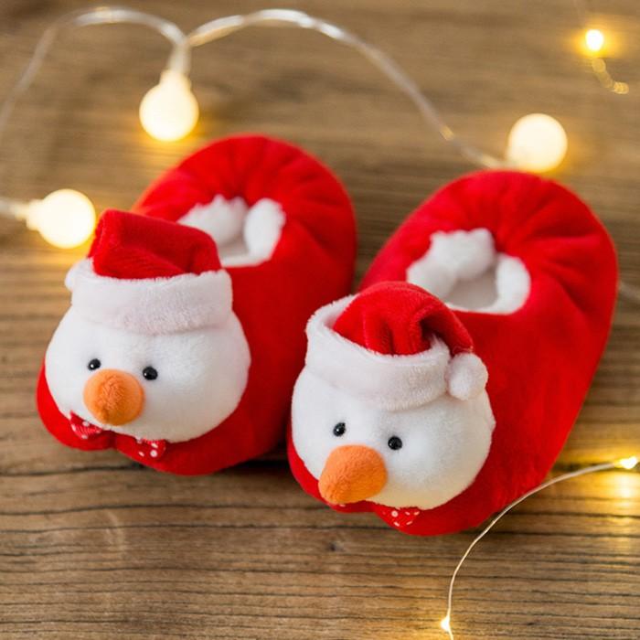 [媽咪可兒] 聖誕限定3D立體造型保暖室內鞋 保暖鞋襪 襪套 地板襪(麋鹿) 秋冬保暖鞋 聖誕造型 寶寶學步鞋 毛絨鞋