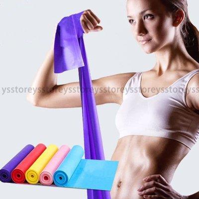 瑜伽彈力帶 環保無味乳膠拉力繩 伸展帶拉力片阻力帶健身 拉力帶 顏色隨機出貨