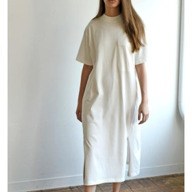 【ビショップ/Bshop】 【unfil】オーガニックコットンジャージー Tシャツドレス WOMEN