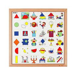 【華森葳兒童教玩具】益智邏輯系列-形狀配對板 K5-522908