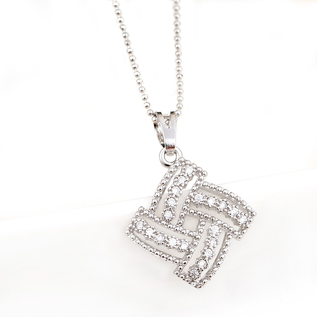 迷人耀眼 菱形水鑽 項鍊 經典永恆 氣質百搭 韓星時尚精品 艾豆ND6508