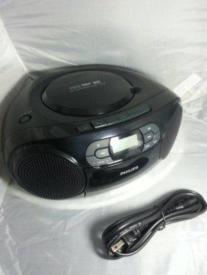 福利品過保固 PHILIPS AZ329 飛利浦手提音響 CD/MP3/SD/USB/卡帶0