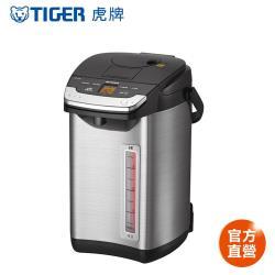 TIGER虎牌 日本製_4.0L蒸氣不外漏VE真空電熱水瓶(PIG-A40R)贈虎牌300cc輕巧食物罐