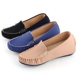 【88%】純色百搭皮革基本款2cm內增高樂福鞋豆豆鞋