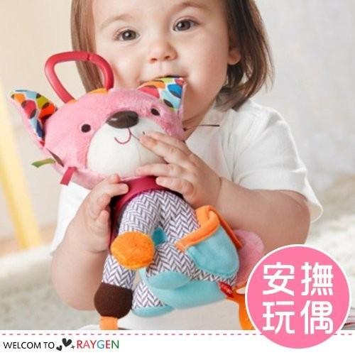立體貓咪猴子動物玩偶 寶寶安撫玩具【2Y153Z407】