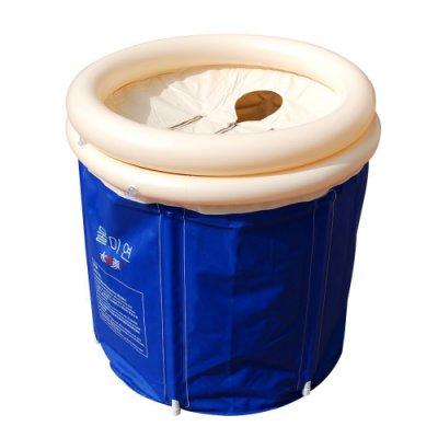 行動折疊充氣泡澡浴桶附充氣墊.成人桑拿蒸氣泡澡排汗充氣加厚充氣摺疊浴缸洗澡盆