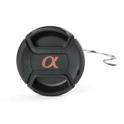 Green.L副廠Sony鏡頭蓋55mm鏡頭蓋C款alpha α字樣附孔繩