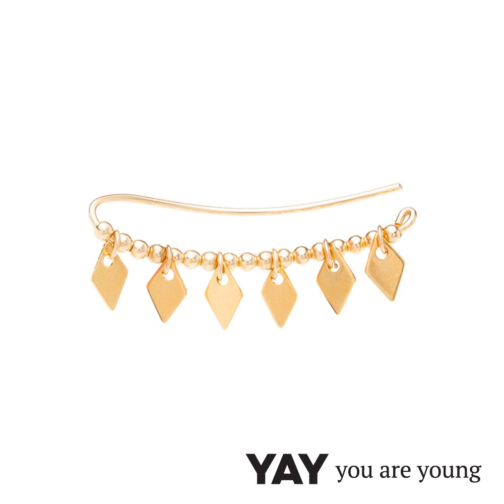 YAY You Are Young 法國品牌 Jimie 貼合耳廓耳環 細緻圓弧造型