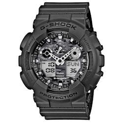 G-SHOCK 超人氣軍事戰魂新迷彩雙顯錶 GA-100CF-8A