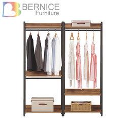 Boden-諾德5.3尺開放式組合衣櫃(雙吊+單桿)