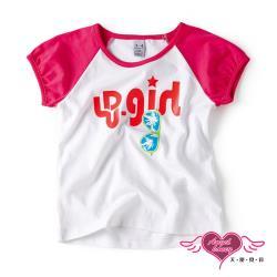 天使霓裳-童裝 閃耀女孩 兒童休閒短袖T恤上衣(白) J1012354