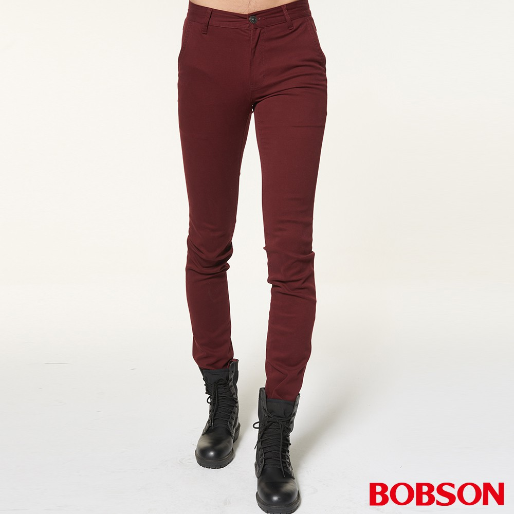 BOBSON 男款低腰彈性直筒褲1795-13