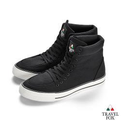 TRAVEL FOX(男)  Classic 900 Hi 高筒帆布休閒鞋-黑