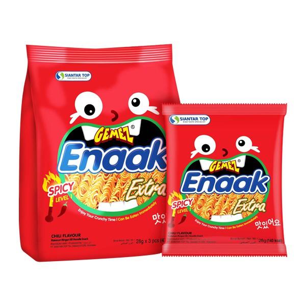 韓國 ENAAK 韓式小雞麵 辣味(增量袋裝28gx3包)【小三美日】D004469